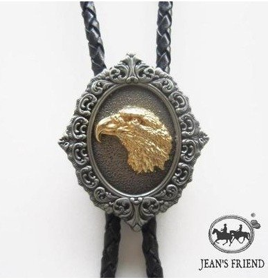 bolo tie bolotie new western rodeo cowboy eagle gold