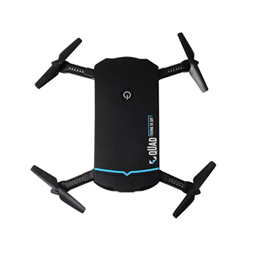 Fiaya Foldable Portable Mini 2.4G 6Axis HD Camera WIFI FPV RC Quadcopter Drone (Black) by Fiaya
