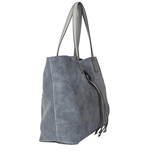 Borbonese Borsa Shopping Donna 954814J25P52 Camoscio Azzurro