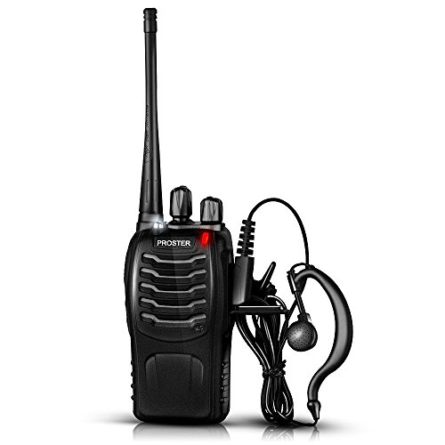 Proster Walkie Talkies Rechargeable 16 Channel 2-Way Radios With Original Earpiece and USB Charger 1 Pair by Proster (Image #4)