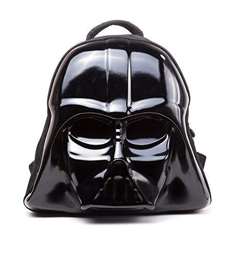 Officially Licensed Star Wars 3D Shaped Darth Vader Character Black Hard - Star Rucksack Wars