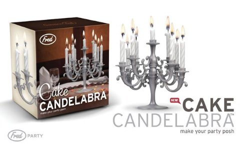Amazon 1 X CAKE CANDELABRA With Candles Home Kitchen