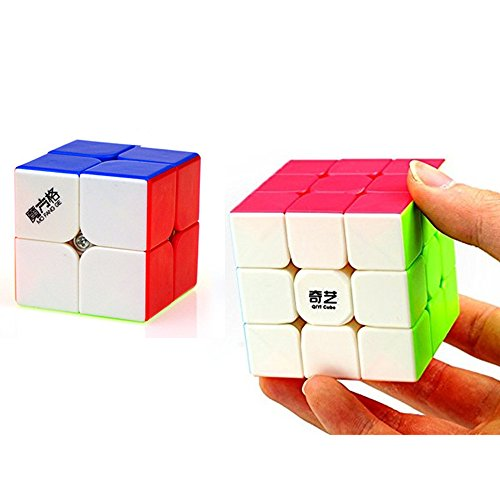 CuberSpeed Speedcubing Bundle QiYi Warrior W 3x3 Stickerless with Qiyi Cavs 2x2 Speed cube