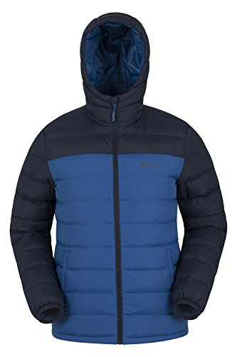 Mountain Warehouse Season Men's Jacket - Water Resistant Rain Coat Cobalt - Mens Fashion Warehouse