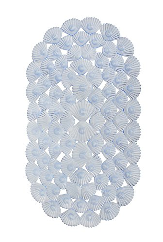 - Waroom Home Non-Slip Shower Mat, Machine Washable Oval PVC Bath Mat, 27