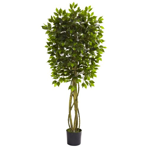 Nearly Natural 5380 Ficus UV Resistant Tree, 5.5-Feet, Green