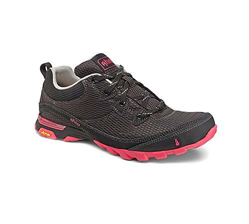 Ahnu Women's Sugarpine Air Mesh Hiking Shoe, Black/Pink, 8 M US