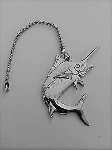 Ceiling Medallions Fine Art (Fine Pewter Ceiling Fan Light Pull Marlin Fish)