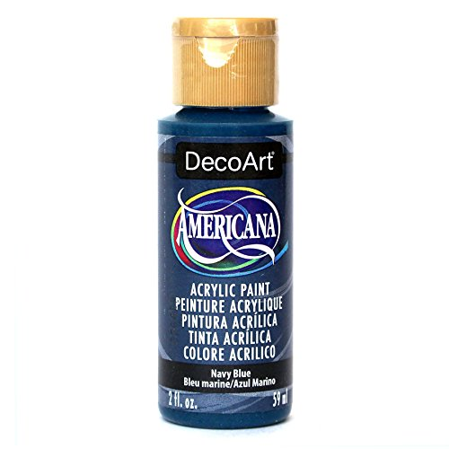 DecoArt Americana Acrylic Paint, 2-Ounce, Navy Blue Blue 2 Oz Americana Paint