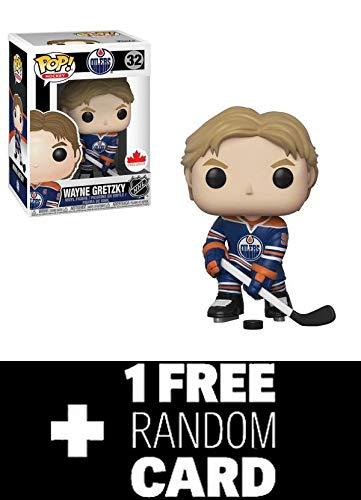 POP Funko NHL: Wayne Gretzky Edmonton Oilers Home Jersey Grosnor Exclusive + 1 Random NHL Trading Card