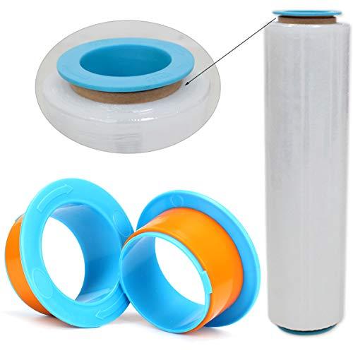 (OlogyMart 2Pcs Stretch Film Pallet Shrink Wrap Hand Saver Protector Dispenser)