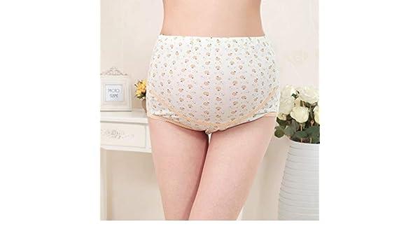 Nihlsen Algodón cómodo Cómodo Bragas de Mujer Embarazada Pantalones Cortos Abdominales de Cintura Alta de Cintura Ajustables Ajustables - Oro 3XL: Amazon.es: Deportes y aire libre