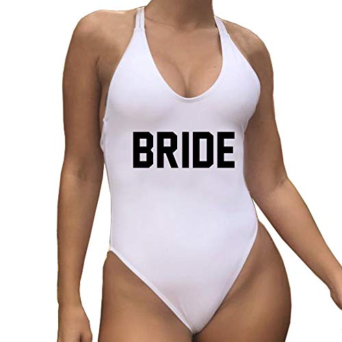 (Honeymoon Beach Cover up White Bride Swimsuit One Piece Outfit Gift for Engagement Bridal Shower)