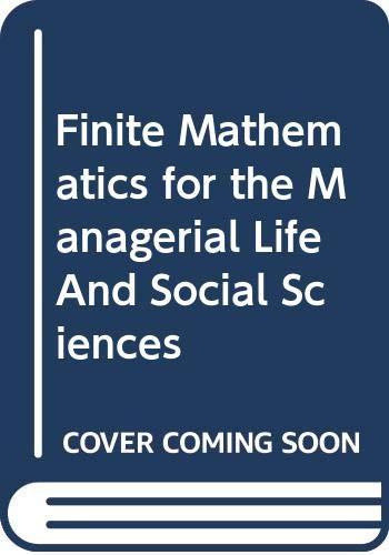 ISM Finite Math F/MLSS 7e