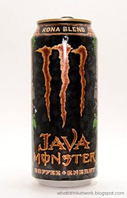 Java Monster Coffee + Energy Drink, Kona Blend, 15-Ounce Cans (Pack of 6)