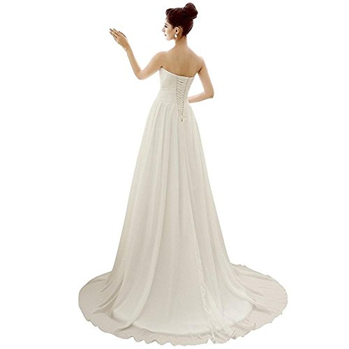 chiffon white abiti damigella sposa lunghi abito sposa in pieghevoli da da da donna abiti da sposa in sposa abiti d'onore da da wRq1PcPpxz