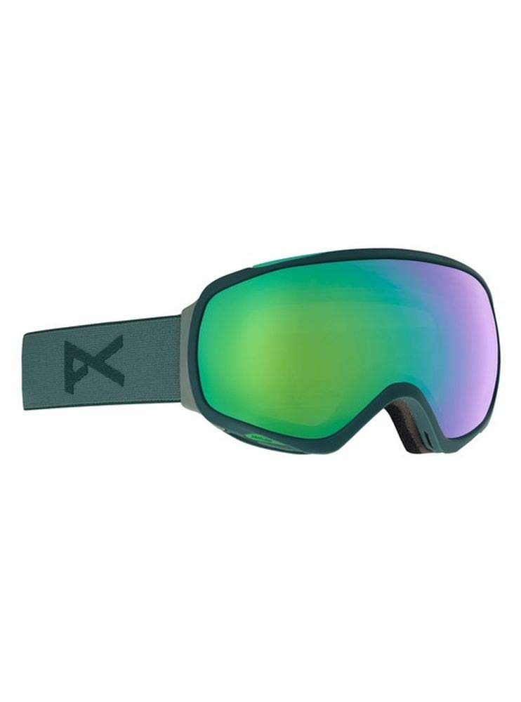 24a16e646c39 Amazon.com   Anon Women s Tempest Snow Goggles Gray Teal with Sonar Green  Lens + MFI Facemask   Sports   Outdoors