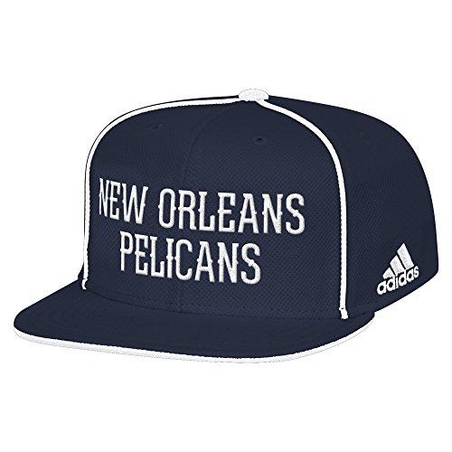 NBA New Orleans Pelicans Men's Fanwear Team Flat Brim Snapback Cap, One Size, Navy ()