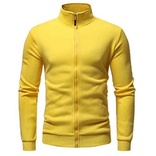 Sweatshirt Jacket Relaxed Mandarin Colors Yellow Various Mens Collar Mogogo f1q5Z5