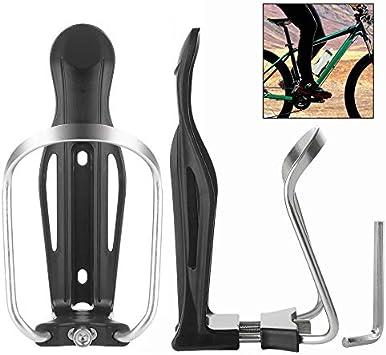 Sonline 2 x Soporte para Botella Agua Bicicleta Bici Plastico Color Negro