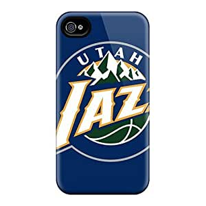 Bumper Hard Phone Case For Iphone 4/4s With Support Your Personal Customized Attractive Utah Jazz Skin IanJoeyPatricia