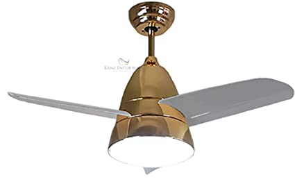 Buy Kanz Enterprises Designer Modern Imported Decorative Ceiling Fan With 36 Inches Blades With Led Light Remote Control For Kitchen Kids Room K 308gold Online At Low Prices In India Amazon In