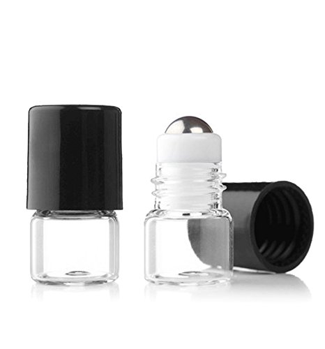 Grand-Parfums-Empty-1ml-Micro-Mini-Rollon-Dram-Glass-Bottles-with-Metal-Roller-Balls-Refillable-Aromatherapy-Essential-Oil-Roll-On-Bulk-14-Dram-Pack-of-6-by-Grand-Parfums
