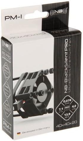 Noiseblocker PM-1 BlackSilentPro - Ventilador silencioso para PC ...