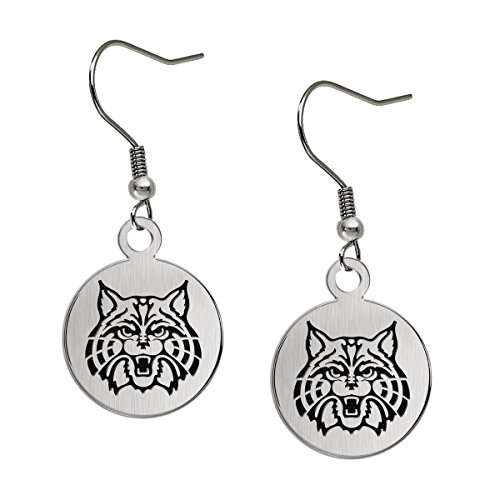 University of Arizona Wildcats Satin Finish Stainless Steel Disc Earrings ()