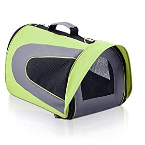 i.Pet Large Portable Foldable Pet Carrier – Green Click on image for further info.