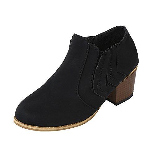 Sonnena Damen Elegant Schnalle Lederstiefel Warm Faux-Stiefel Sexy High Heels Einzelne Stiefel Martin Stiefel Schnürer Low-Top Boots Mode Frauen Schuhe 35-43 Schwarz