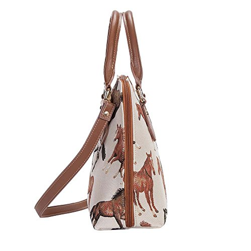 with Top CONV Running Tapestry Horse Signare Shoulder Cross Body RHOR White Handle Bag Women Bag Handbag Horses q7UwUvEZ