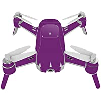 Skin For Yuneec Breeze 4K Drone – Solid Purple | MightySkins Protective, Durable, and Unique Vinyl Decal wrap cover | Easy To Apply, Remove, and Change Styles | Made in the USA