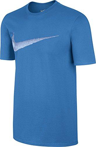Nike Men's Sportswear Swoosh T-Shirt Photo Blue/Aluminum Large