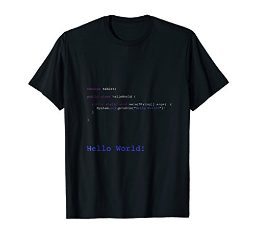 (Hello World T-Shirt for Computer Science/Software Engineers)