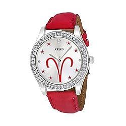 Unisex Crystal Zodiac Horoscope Watch - Aries