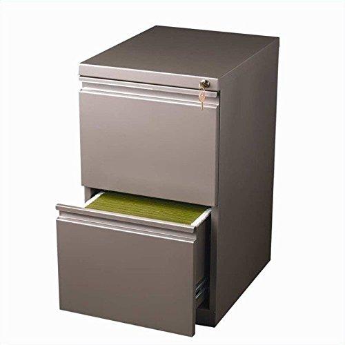 Cheap Hirsh Industries 20″ Deep File-File Mobile Pedestal in Met Bronze