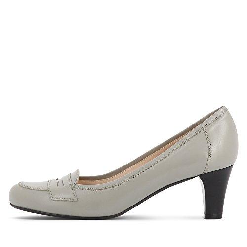 Evita Shoes - Zapatos de vestir de Piel para mujer Gris - gris claro (grey 801)