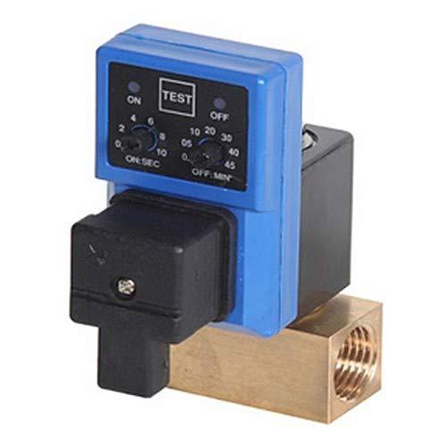 4.5 mm Drain Orifice Size 230 psi Max Pressure 34 Degree F to 140 Degree F 1//2 FPT 1//2 FPT Midwest Control MCDV-50-120A Timer Control Condensate Drain 115V