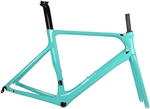 TQ Cuadro Completo de Bicicleta de Carretera de Carbono DI2 y maquinaria Juego de Cuadros de Carbono de Bicicleta de Carretera Racing BB86 50.5/53 / ...