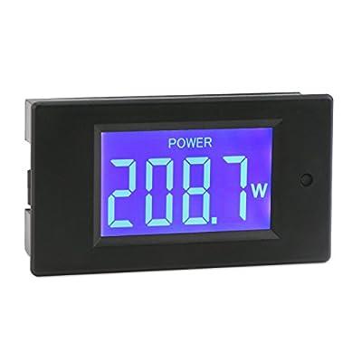 DROK AC Voltmeter Ammeter 2in1 Multimeter, AC60-300V Voltage Tester 50A Ammeter with Current Transformer, Two-wires Digital Ammeter Volts Meter Panel