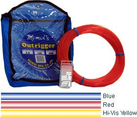 - Momoi Outrigger Monofilament Rigging Kit - 400 lbs. Line Test - 100 Yards - Dark Blue