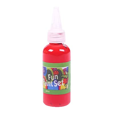 Finger Paint for Toddlers Washable Children's Paint Acrylic Paint Hose DIY Wall Painting Art Paint Kids Indoor Activities at Home, Gift 60ml (Red): Arts, Crafts & Sewing