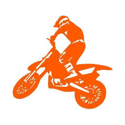 Firenze Motocross Sticker Moto Decalcomanie Adesivo prespaziato Senza Fondo in Vinile Colore Nero Lucido L.I 20 Centimetri.