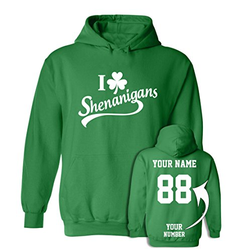 Custom Jerseys St Patrick's Day Hoodies - Saint Pattys Sweaters & Irish Outfits for $<!--$29.95-->