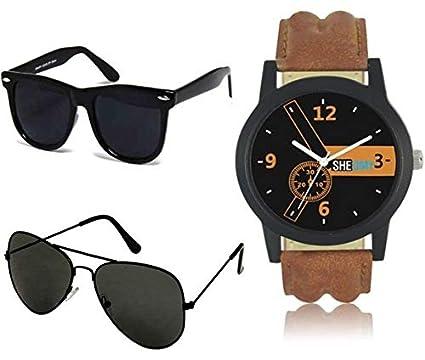 5fc4b2210df Sheomy Wayfarer Boy s Girl s Men s   Women s Combo Of 2 Sunglasses (Black- Black