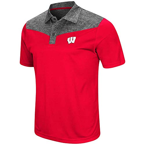 Mens Wisconsin Badgers Polo Shirt - 2XL