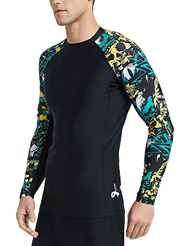 LAFROI Men's Long Sleeve UPF 50+ Baselayer Skins Compression Rash Guard (Fierce, LG) best mens rash guard 6