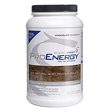 ProEnergy Whey Chocolate Protein Isolate Powder 100 Natural Grass Fed Non-GMO Undenatured Low Carb Lactose Free Meal Replacement, Pre Post Workout – 2 lb. Jar by EnergyFirst