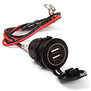 ginsco dual usb charger socket power outlet 2. Black Bedroom Furniture Sets. Home Design Ideas